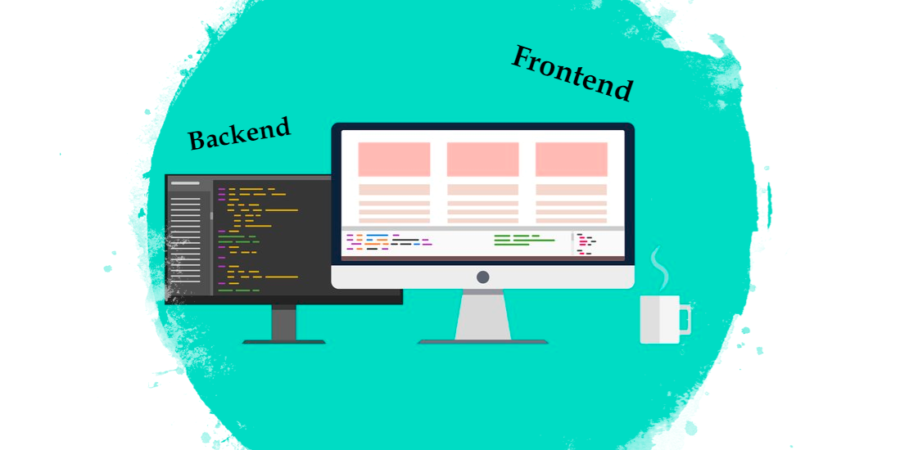frontend backend title image