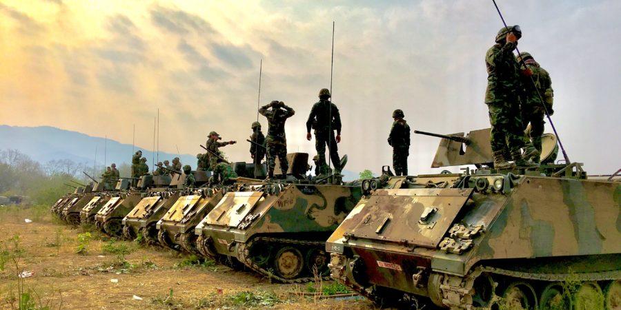 żołnierze w trakcie deployementu